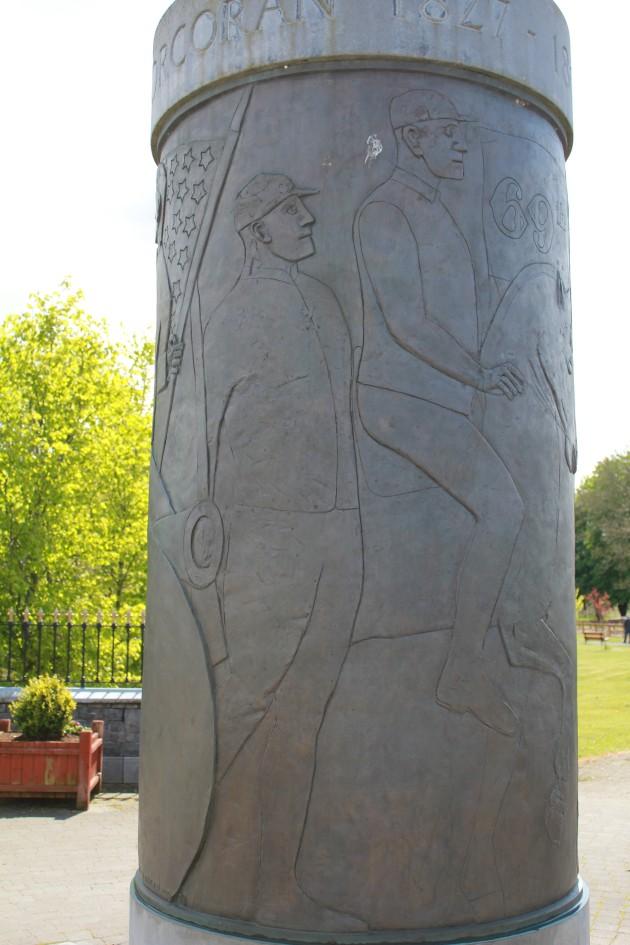 Detail of the Corcoran Memorial in Ballymote, Co. Sligo.