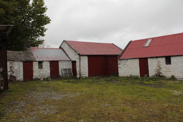 Buildings on the site of the Revenue Police Barracks, Creeslough, Co. Donegal.