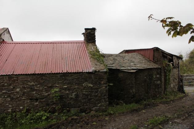 Nineteenth Century buildings on the site of the Revenue Police Depot, Creeslough, Co. Donegal.