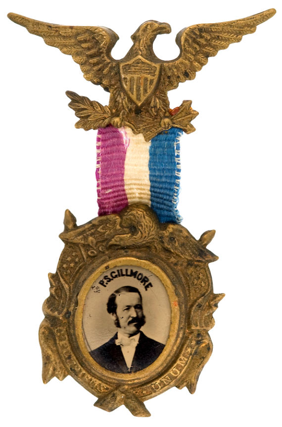March 1864 Gilmore Ferrotype Medal made for the Performance in New Orleans (Jarlath MacNamara Collection)