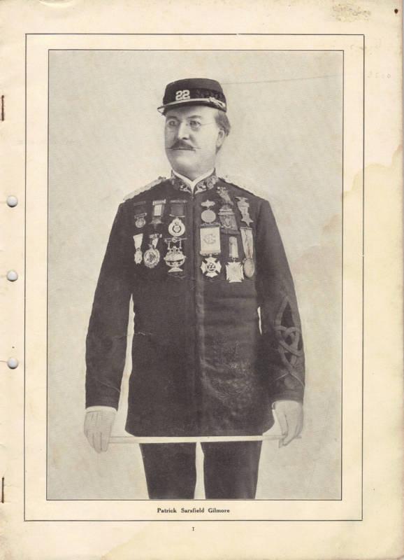 Patrick Sarsfield Gilmore Memorial Concert 1906 (Jarlath MacNamara Collection)