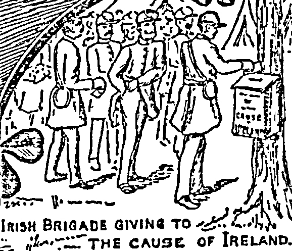 'Irish Brigade Giving to the Cause of Ireland', Detail from New York 'Irish World', 1903