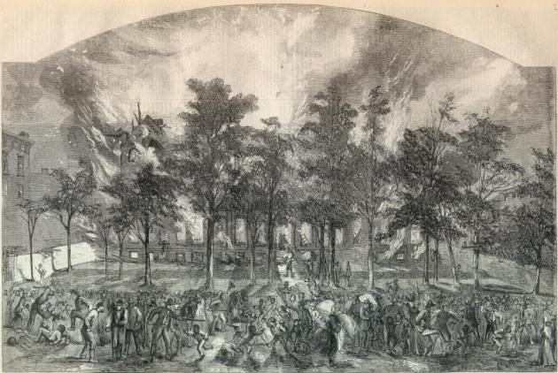 The Burning of the Colored Orphan Asylum (Library of Congress)