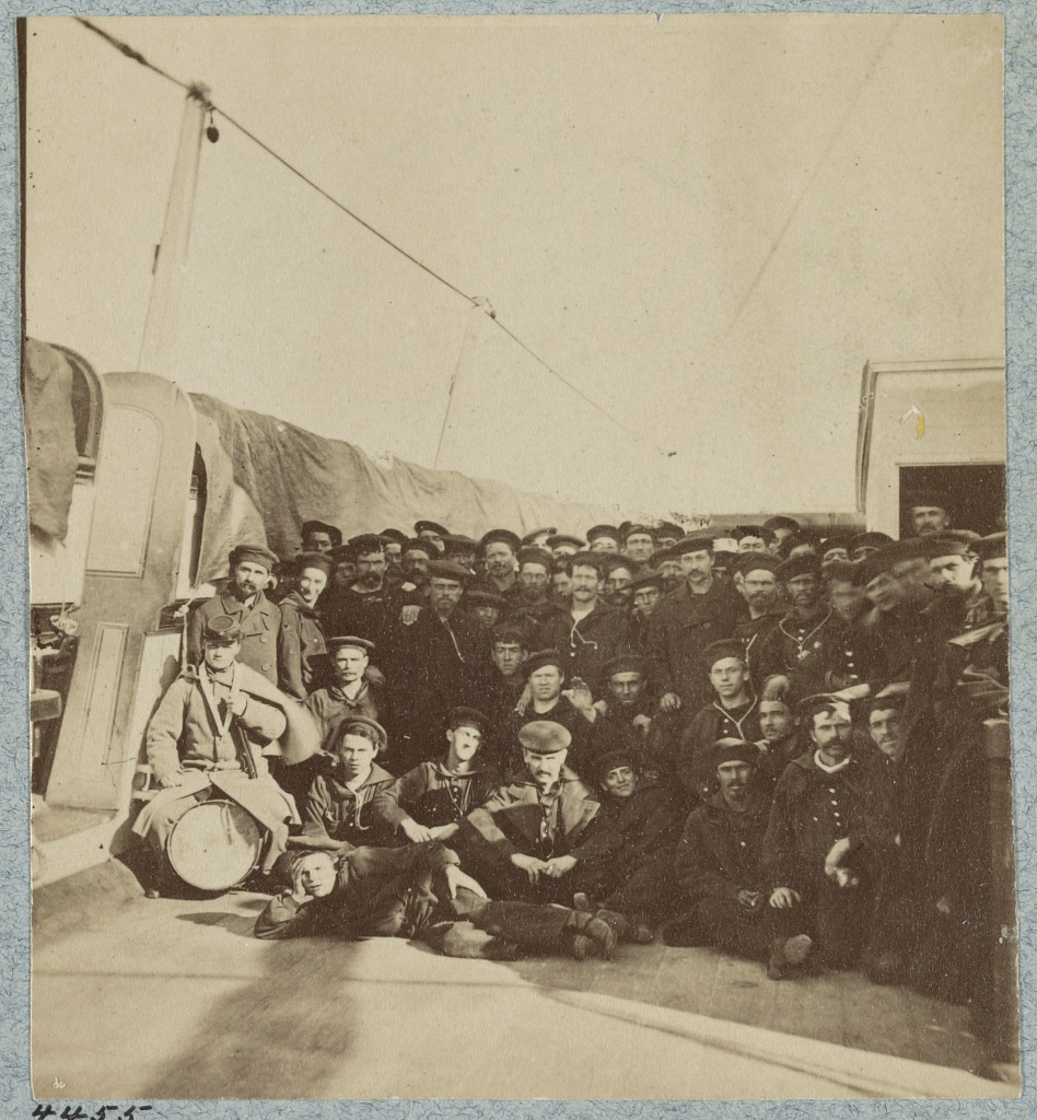 The crew of the U.S.S. Colorado, another member of the North Atlantic Blockading Squadron (Library of Congress)