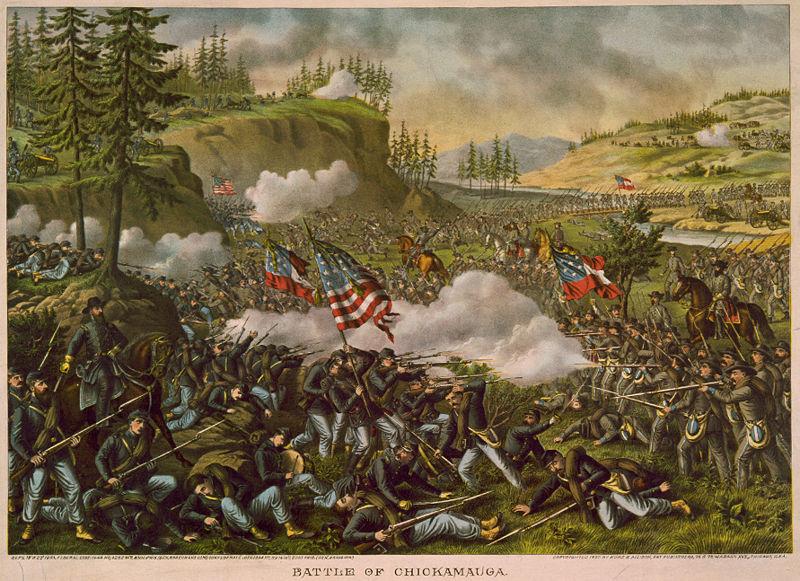 The Battle of Chickamauga by Kurz and Allison (Wikipedia)