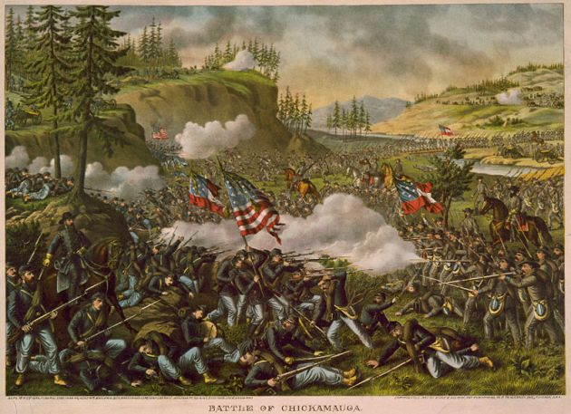 The Battle of Chickamauga by Kurz and Allison (Wikipedia)