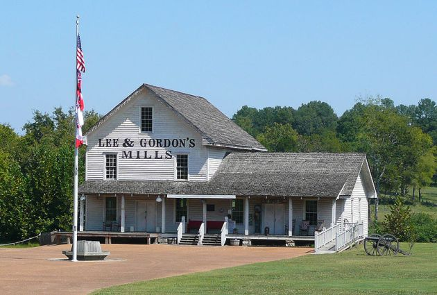 Lee and Gordon's Mills on the Chickamauga Battlefield. The 35th Indiana began the 19th September located near here (Hal Jespersen)
