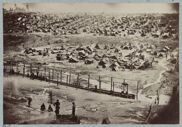 Andersonville POW Camp as it appeared on 17th August 1864 (Library of Congress)