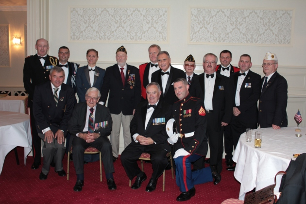 Some of the military personnel who attended the dinner and my talk for the Tipperary Remembrance Trust (Sara Nylund)