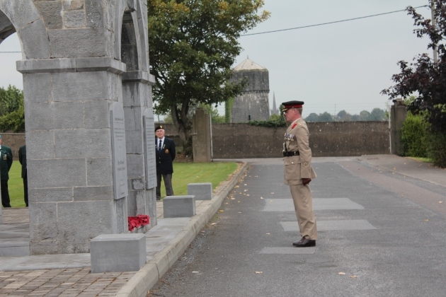 Colonel Sean English lays a wreath on behalf of the United Kingdom (Sara Nylund)