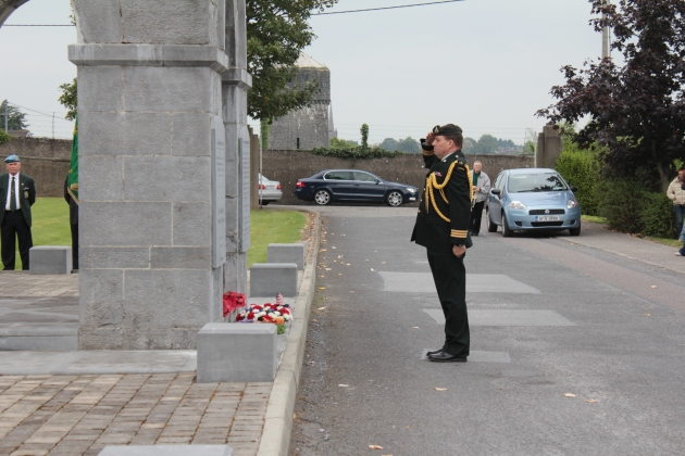 Lieutenant-Colonel Jean Trudel lays a wreath on behalf of the Canadian Defence Forces (Sara Nylund)