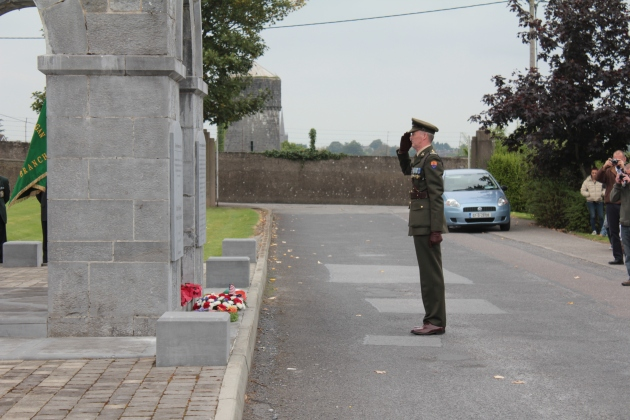 A wreath is laid on behalf of the Irish Defence Forces (Sara Nylund)