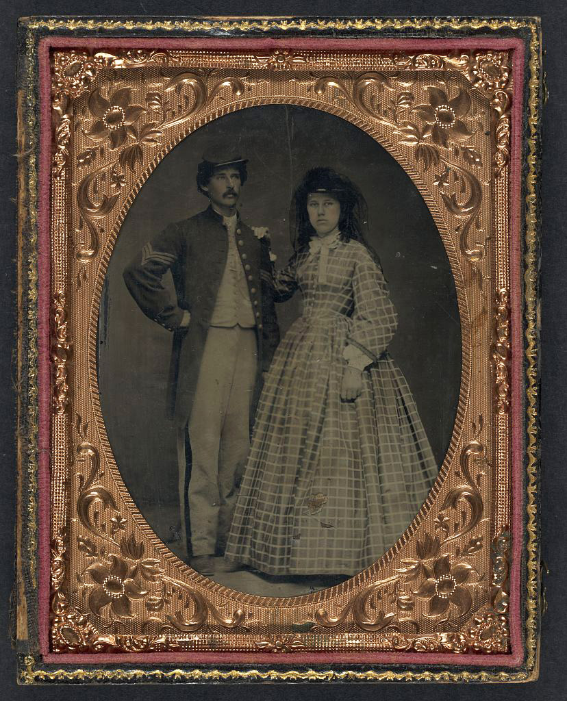 A Union Sergeant and his Wife during the American Civil War (Library of Congress)