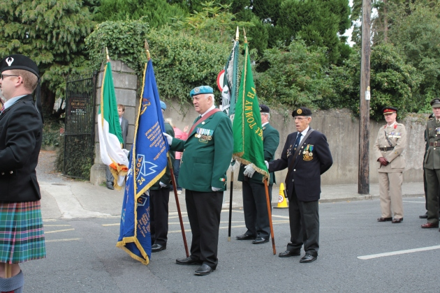 The Colour-Guard prepare to march through Tipperary town (Sara Nylund)