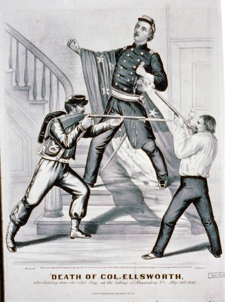 The Death of Colonel Elmer Ellsworth (Currier & Ives)