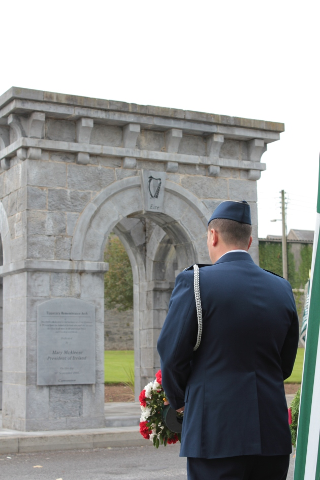 Lieutenant-Colonel Sean Cosden, US Military Attaché at the Tipperary Remembrance Arch (Sara Nylund)