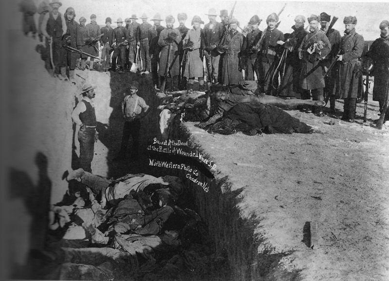 Massgrave of Native Americans killed at Wounded Knee, 1890 (Library of Congress)