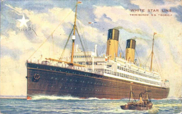 The SS Doric, the ship on which Patrick Ferris crossed the Atlantic (Image via InstaDerek)