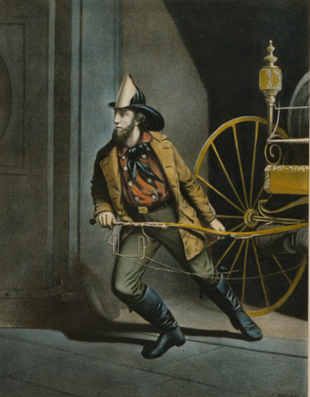The American Fireman, 1858 by Currier & Ives (Library of Congress)
