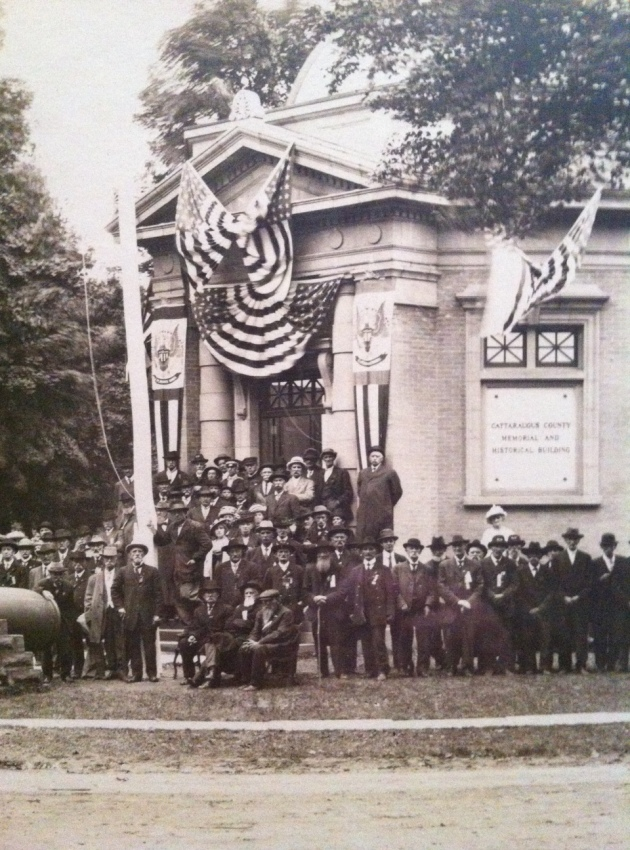 Cattaraugus County Memorial and Historical Building at it's Dedication in 1914 (Mark Dunkelman Collection)