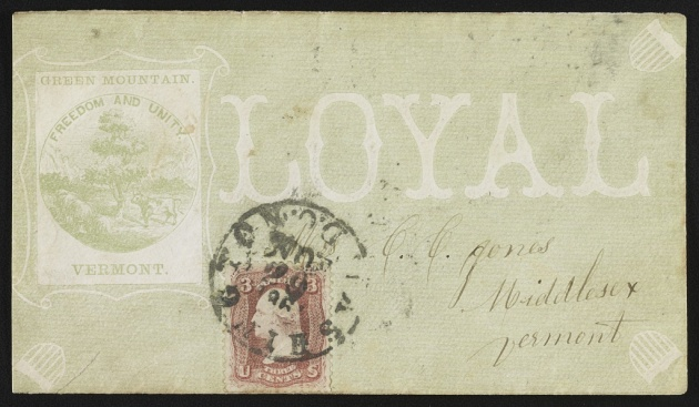 A patriotic envelope from Vermont during the American Civil War (Library of Congress)