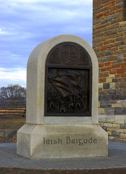 The Irish Brigade Monument at Antietam (Andrew Bossi- Wikimedia Commons)