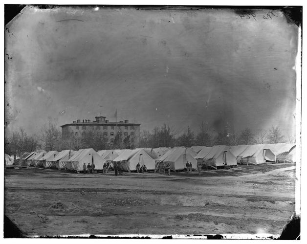 The Columbian Hospital where George Ridgway died (Library of Congress)