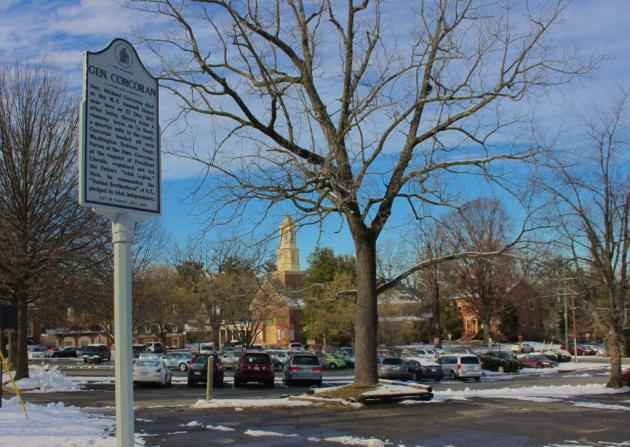 General Setting of the New Marker to Michael Corcoran in Fairfax, Virginia (Photograph Dave Sullivan)