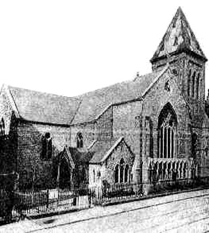 St. Peter's Church, Aungier Street, Dublin. George and Maria were married here in 1859 (Wikipedia)