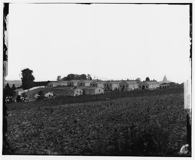 A General view of Harewood Hospital in Washington D.C. where John Ruddy was treated (Library of Congress)