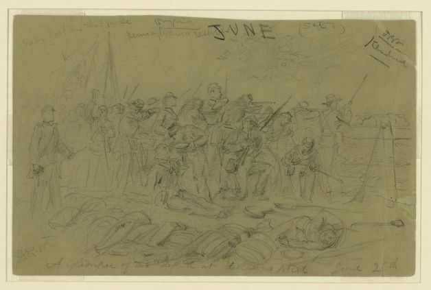 The Pennsylvania Reserves in Action on the Peninsula in June 1862 by Waud (Library of Congress)
