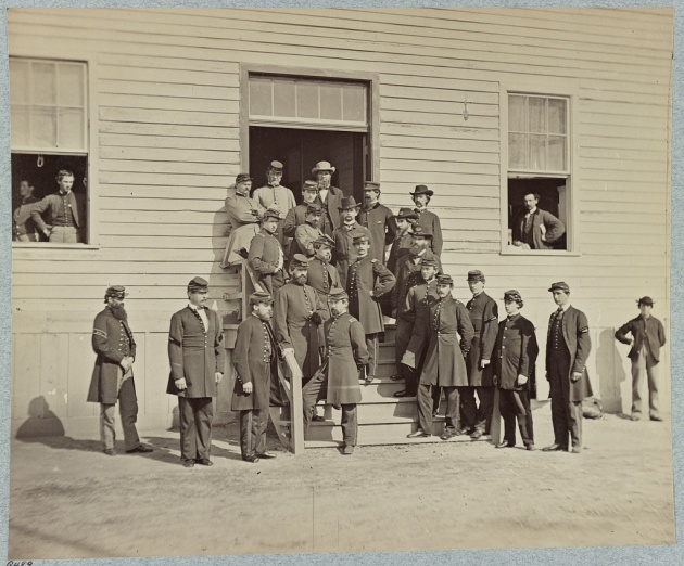 Surgeons and Hospital Stewards at Harewood Hospital, Washington D.C. (Library of Congress)