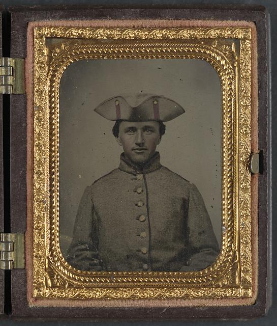 A Private in the 11th Massachusetts Infantry, the regiment in which Jobs Long served (Library of Congress)