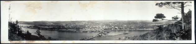 Brattleboro as it appeared in the 1920s, a period when Luke Ferriter's connections to the 'Sleeping Sentry' incident would be in the spotlight (Library of Congress)