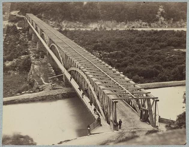 The Chain Bridge on the Potomac where the incident took place during the American Civil War (Library of Congress)