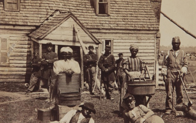 Escaped slaves who made it to Union lines during the Civil War, c. 1862 (Library of Congress)