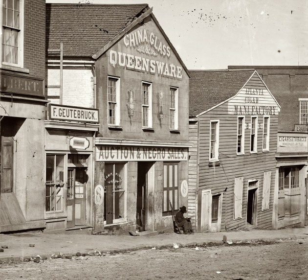 A slave market in Atlanta, Georgia, c.1864 (Library of Congress)
