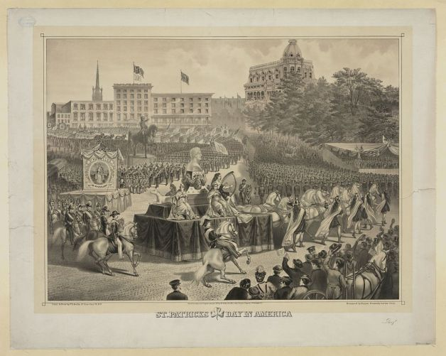 'St. Patrick's Day in America, 1874' (Library of Congress)