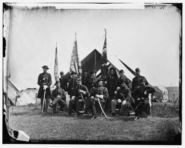 Officers of the 63rd New York Infantry in June 1865 (Library of Congress)