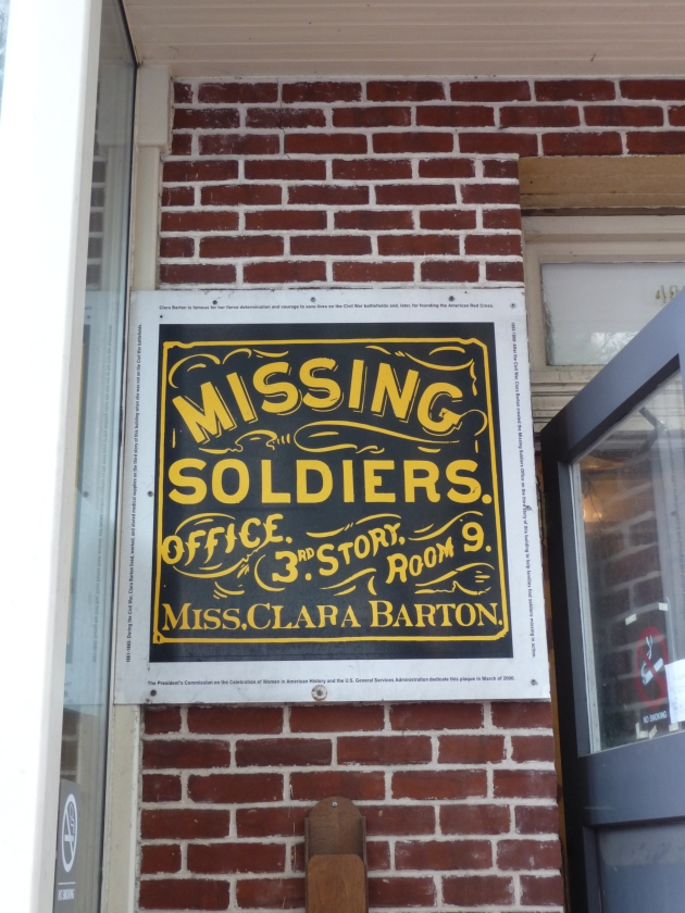 Clara Barton's Missing Soldiers Office, Washington DC. She helped many families learn the fate of their loved ones following the Civil War, but unfortunately Alexander Scarff's parents were not among them. (Photo by E.L. Malvaney)
