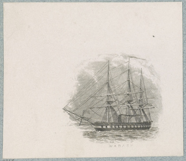 A sketch of the USS Wabash (Library of Congress)