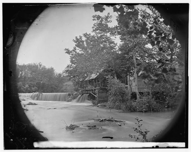 North Ann River, Virginia. Quarles Mill on North Anna where a portion of the 5th Corps under General Warren crossed, May 23, 1864 (Timothy O'Sullivan/ Library of Congress)