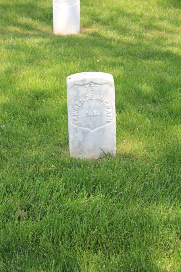 Lawrence McGrath. Cold Harbor National Cemetery (Damian Shiels)