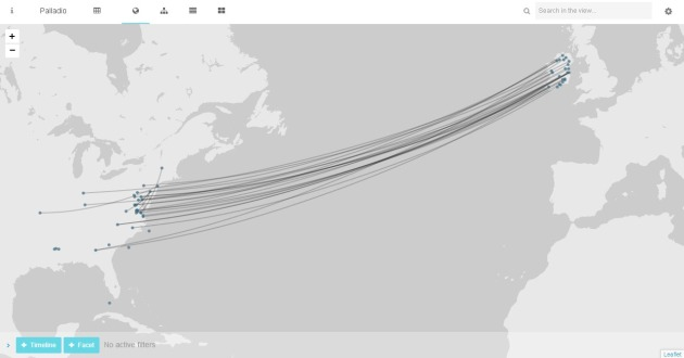 Till Death Do Us Part. This visualisation links the locations where couples were married in Ireland- usually in the 1840s or 1850s, with the locations where the man died during the American Civil War. Widows often recorded this information in their Widow's File applications. It charts visually the start and end of their time together and is another reminder of the long reach of the American Civil War (Damian Shiels/Palladio)