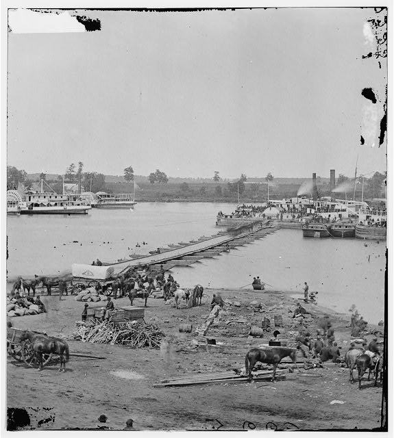 Port Royal, Virginia. The Rappahannock River front during the evacuation, May 30, 1864 (Timothy O'Sullivan/ Library of Congress)