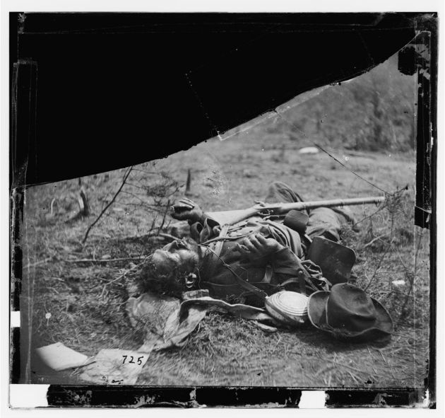 Spotsylvania Court House, Virginia. Body of another Confederate soldier near Mrs. Alsop's house, May 20, 1864 (Timothy O'Sullivan/ Library of Congress)