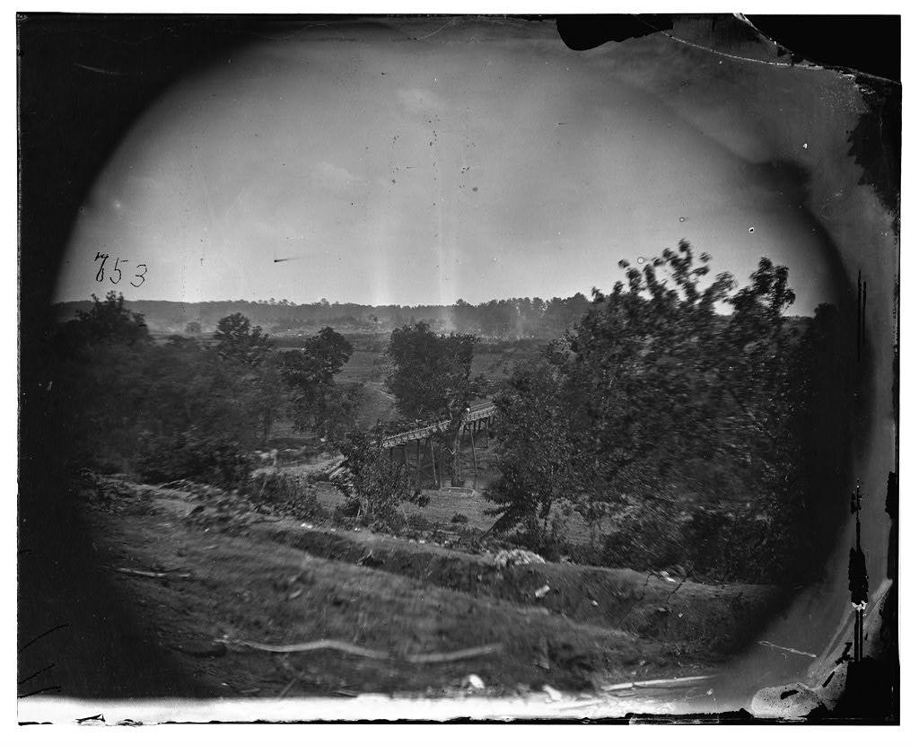 North Anna River, Virginia. Cavalry crossing Chesterfield Bridge, May 25, 1864 (Timothy O'Sullivan/ Library of Congress)