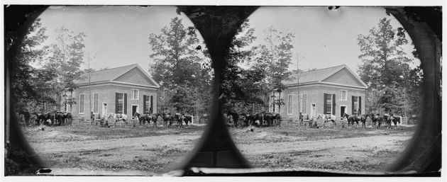 Bethel Church, Virginia. View of the church, temporary headquarters of General Ambrose E. Burnside, May 23, 1864 (Timothy O'Sullivan/ Library of Congress)