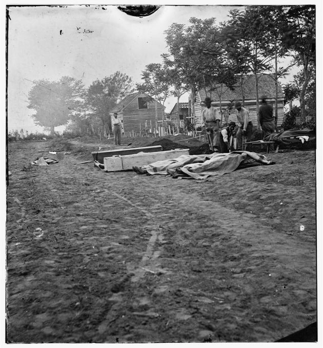 Fredericksburg, Virginia. Burial of Federal Dead, May 19/20, 1864 (Timothy O'Sullivan/ Library of Congress)