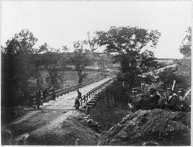 Chesterfield Bridge, North Anna River, Virginia, May 23, 1864 (Timothy O'Sullivan/ Library of Congress)